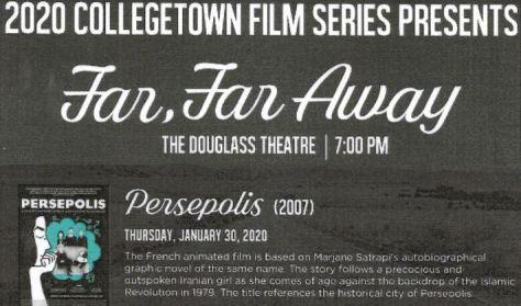 """College Town Film Series: """"Perespolis"""""""