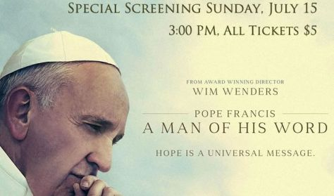 """Pope Francis: A Man of His Word"" Documentary"
